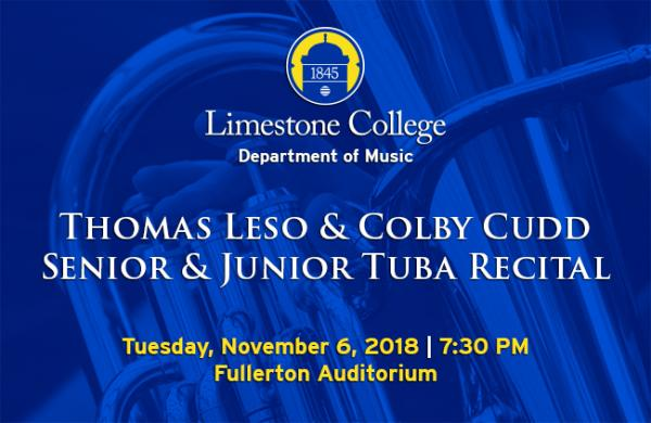 Leso, Cudd To Be Featured At Tuba Recital on November 6